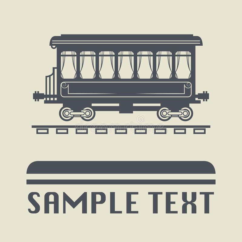 Rail Wagon icon or sign. Vector illustration vector illustration