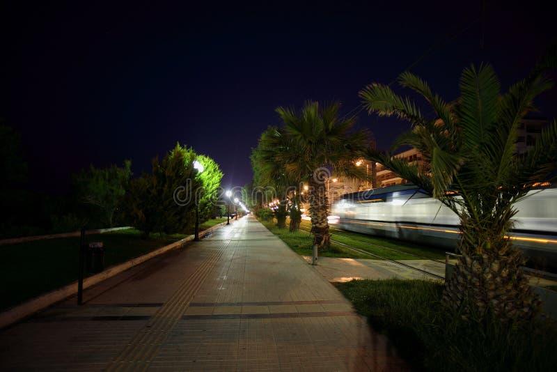 Download Rail Way stock photo. Image of rail, sidewalk, palm, greece - 6986714