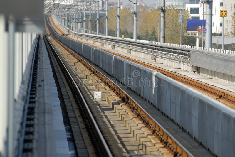 Download Rail way stock photo. Image of wire, mass, rapid, shanghai - 7283036