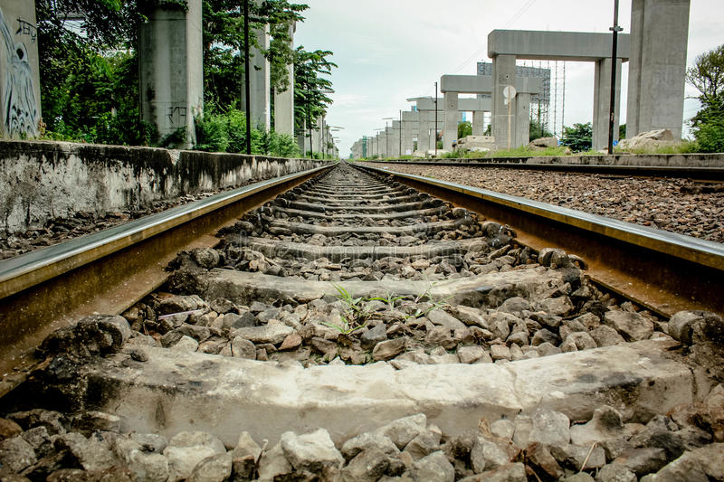 Rail way royalty free stock photography