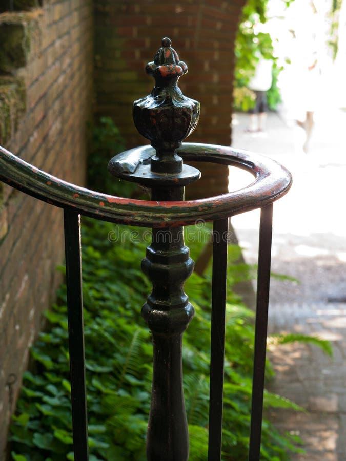 Rail woede Iron Stair Baluster Decoratief Handgemaakt stock afbeelding