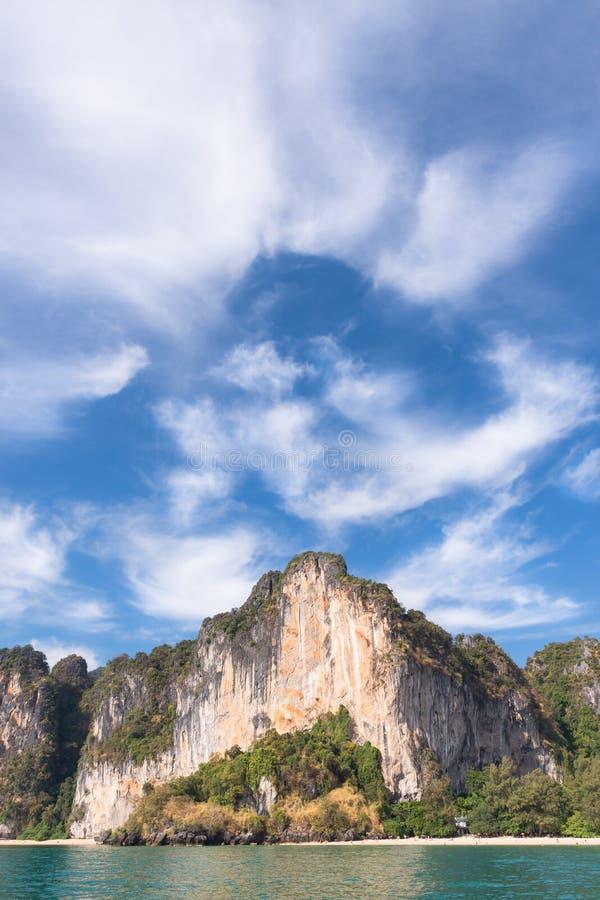 Railay海滩在泰国 库存照片