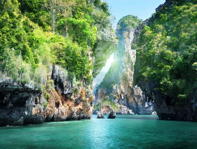 Railay海滩在Krabi泰国 库存图片