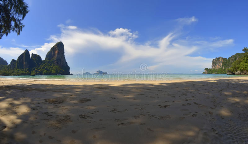 Railay beach in the morning, Thailand royalty free stock image
