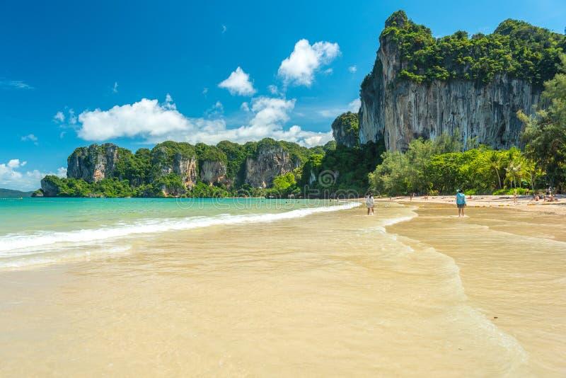 Railay Beach West - Krabi, Thailand royalty free stock photography