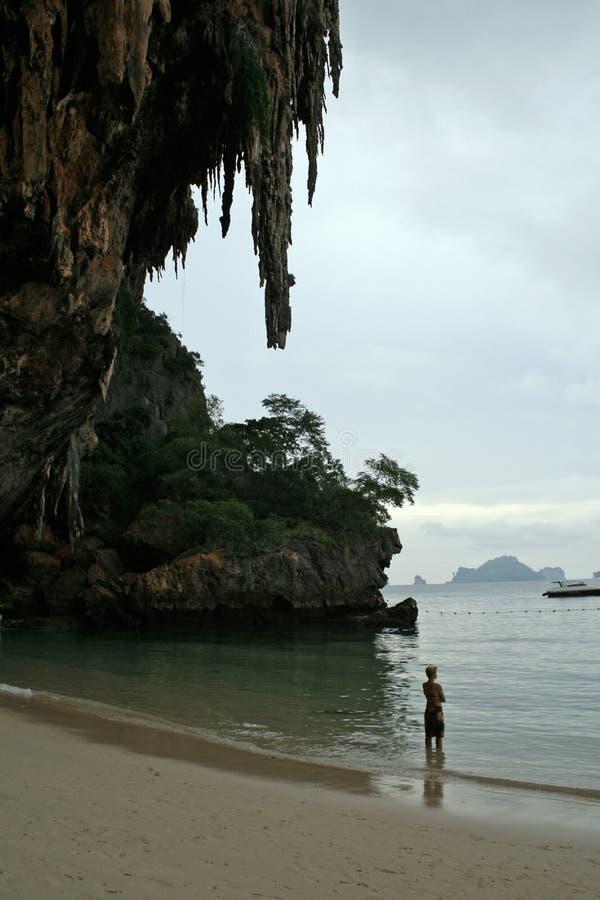 railay napływu Thailand beach słońca obraz stock