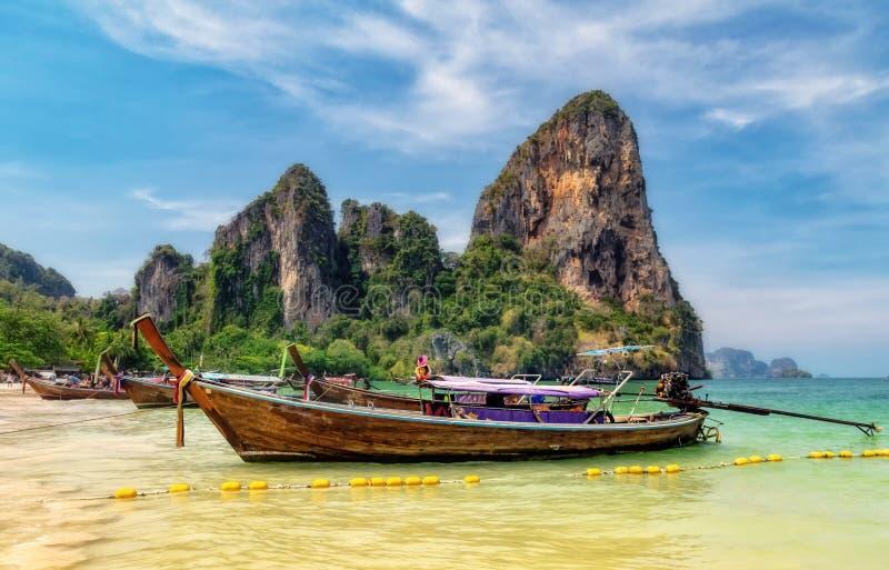 Railay pla?a, raj pla?a, Tajlandia obraz stock