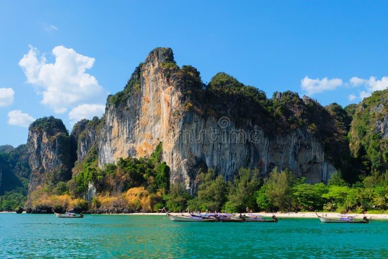 Railay-Strand in Krabi Thailand lizenzfreies stockbild