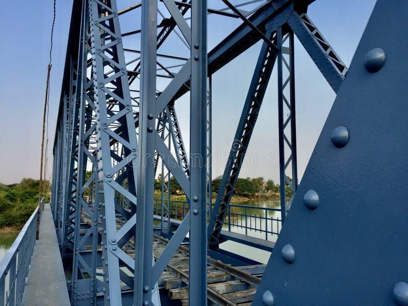 Railbridge abandonado foto de archivo libre de regalías