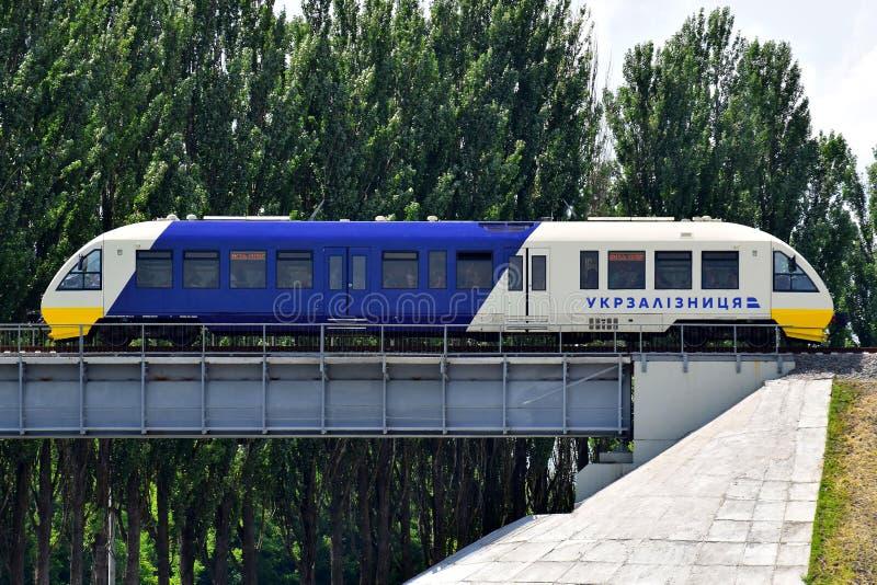 Railbus Pesa Kiev Boryspil expreso fotos de archivo
