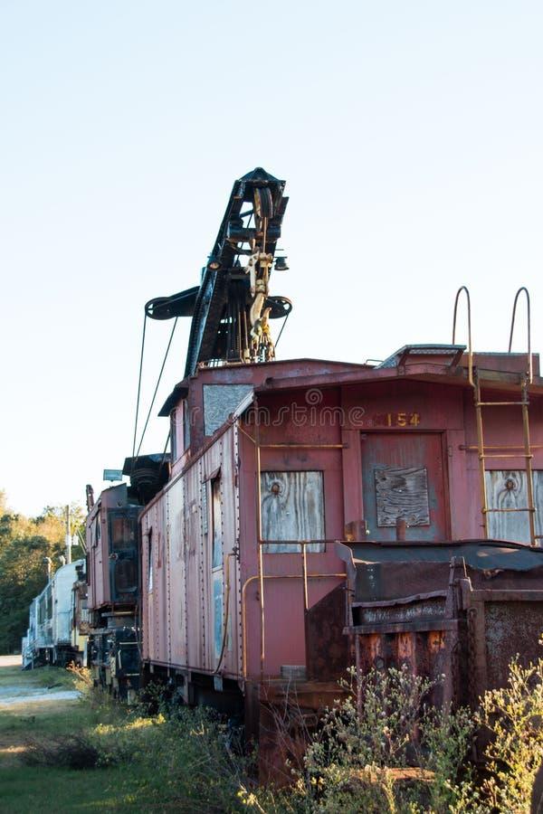 Railcars abandonados foto de archivo libre de regalías