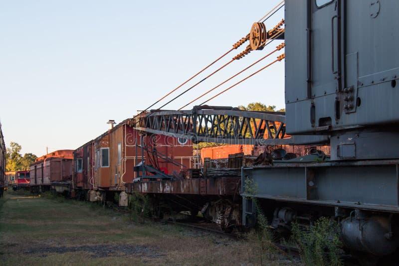 Railcars abandonados fotografía de archivo libre de regalías