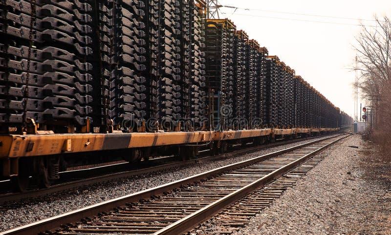 Railcars Detroit royaltyfria bilder