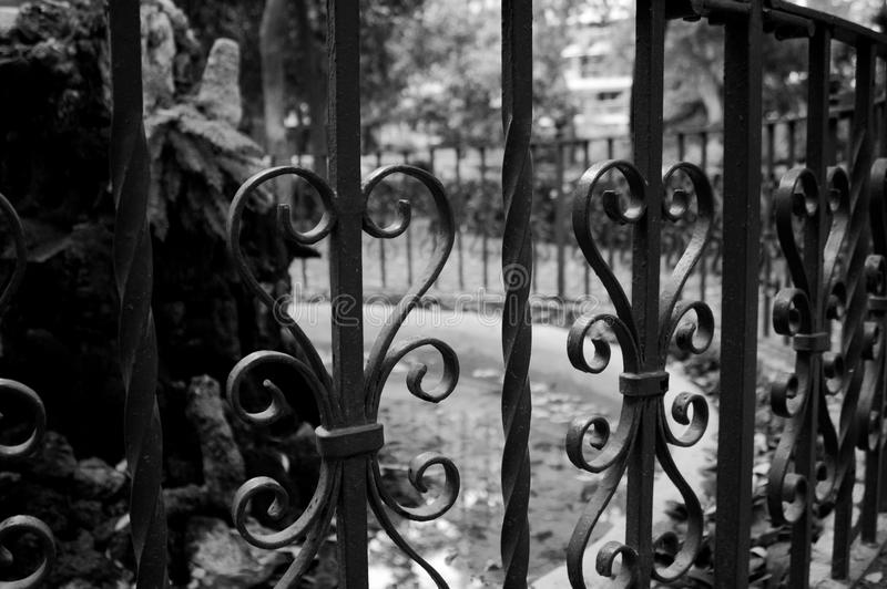 Railing in Monforte Gardens royalty free stock images