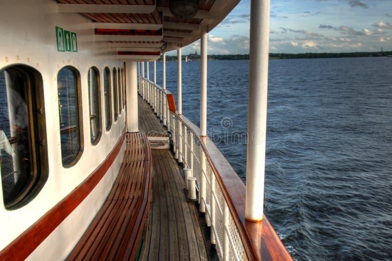 Railing On A Ship Royalty Free Stock Photos
