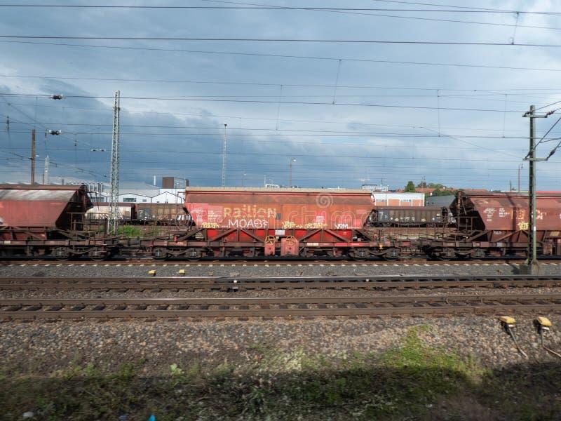 Railion DB货物铁路货物载体 免版税库存图片