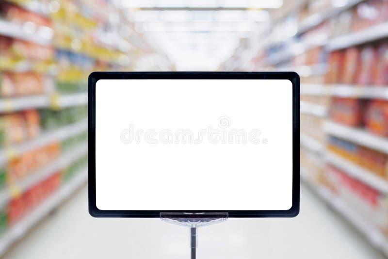 Raillez vers le haut de l'affichage vide de signe d'affiche de conseil des prix images stock