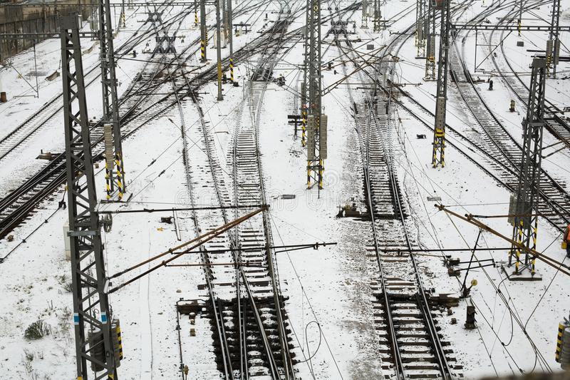 Download Railroad stock image. Image of backgrounds, iron, connection - 12340147