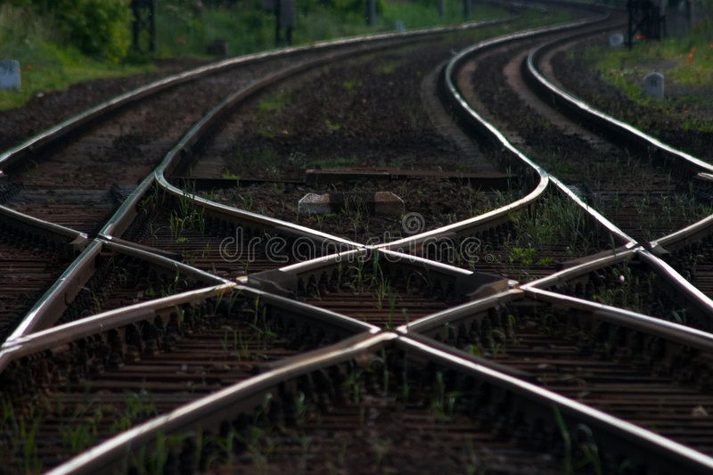 Download Railroad stock photo. Image of cross, lines, rail, choice - 152978