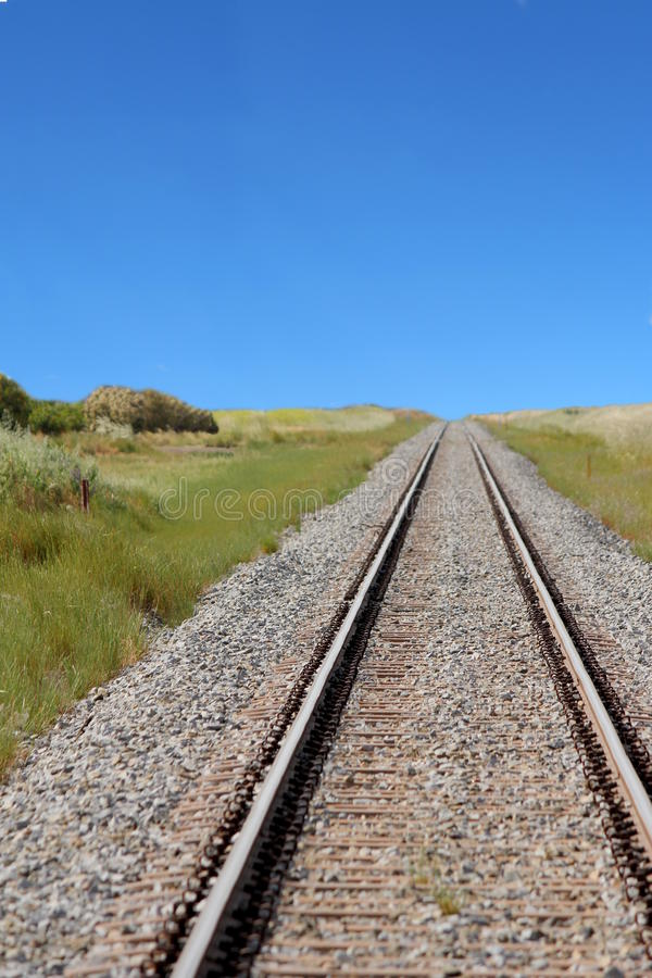 Railroad with Blue sky royalty free stock photography