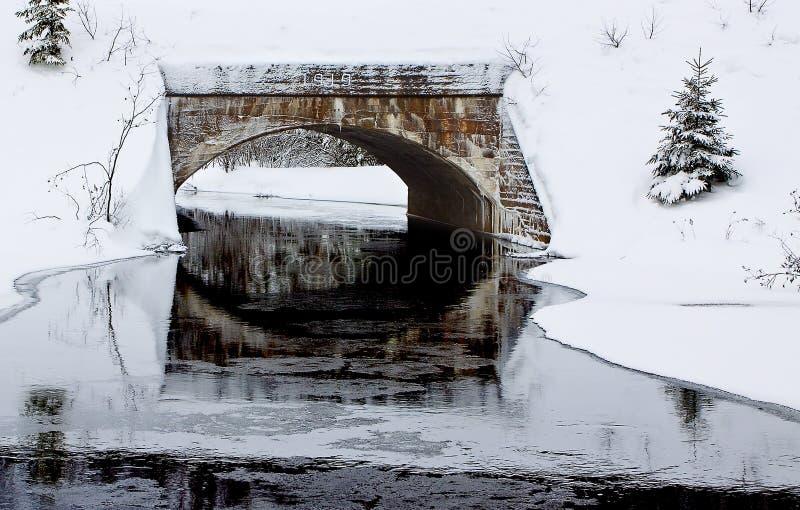 Download Railroad Bridge stock image. Image of river, pine, cold - 7590335