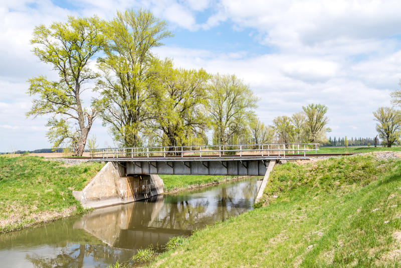 Railroad bridge on countryside stock images