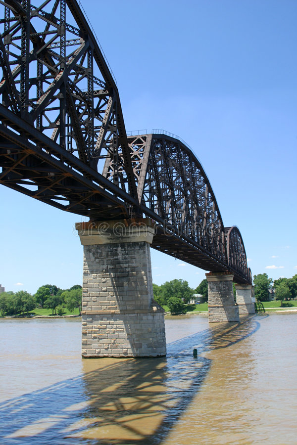Free Railroad Bridge Over Ohio River 1 Royalty Free Stock Images - 141409
