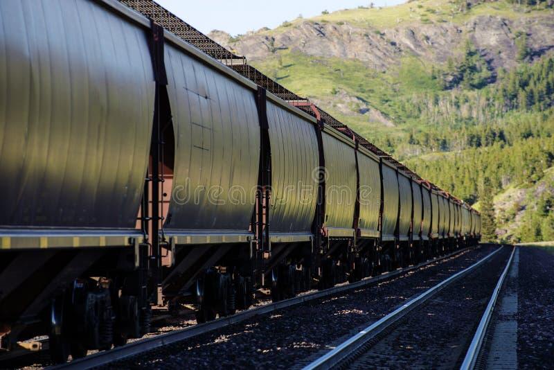 Railroad carros do funil imagens de stock royalty free
