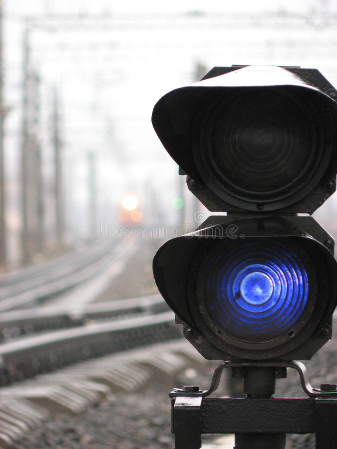 Download Railroad control light stock photo. Image of blue, lights - 9919832