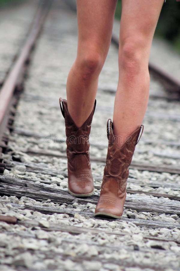 Railroad Cowgirl stock images