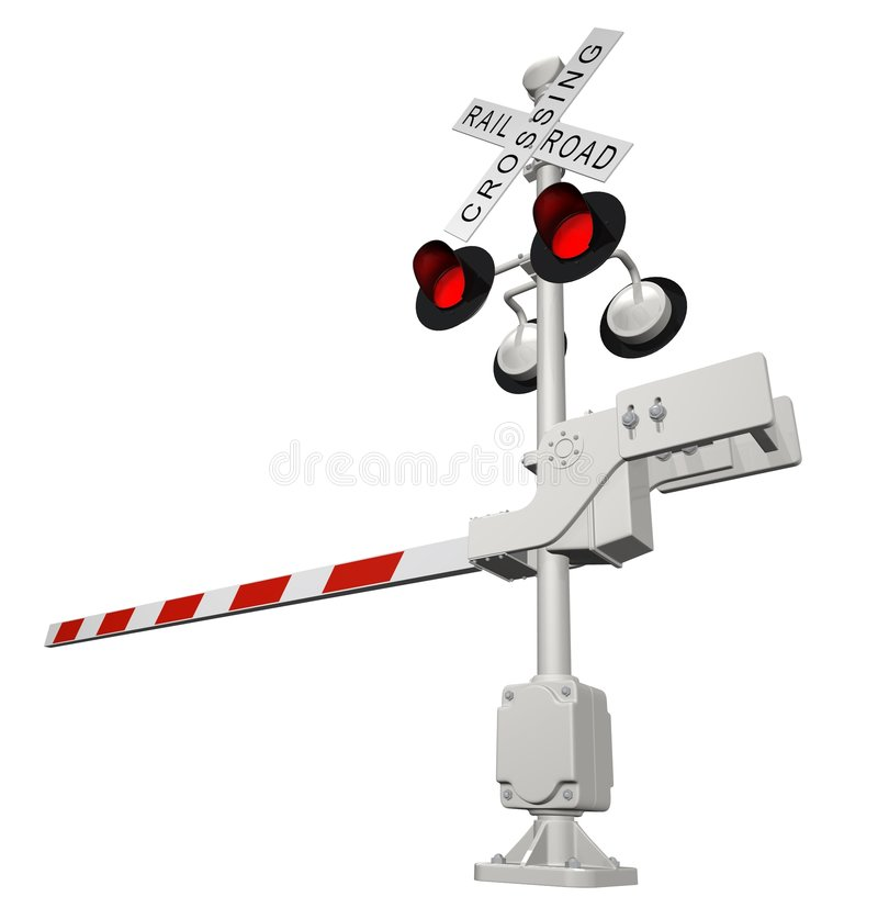Download Railroad crossing stock illustration. Image of rendered - 1621357