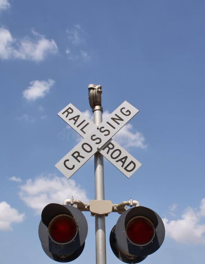 Download Railroad Crossing stock image. Image of track, stop, crossing - 26660619