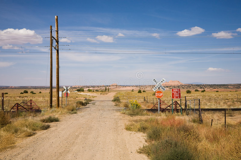 Download Railroad crossing stock image. Image of railway, lonely - 7523939