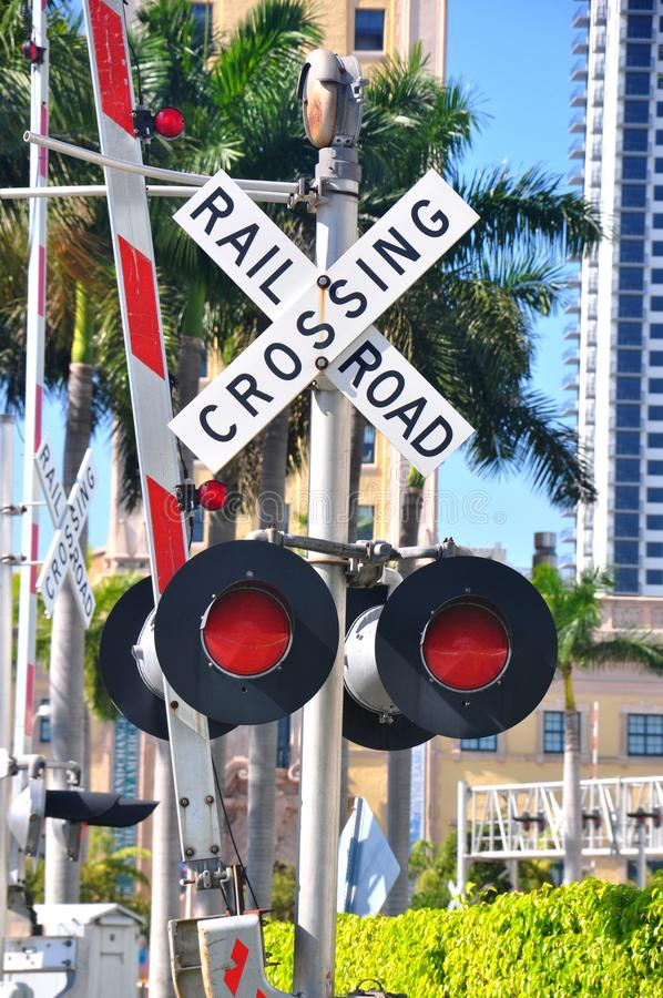 Railroad Crossing editorial stock image  Image of street