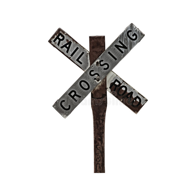 Download Railroad Crossing Sign stock image. Image of post, chocolate - 2291121