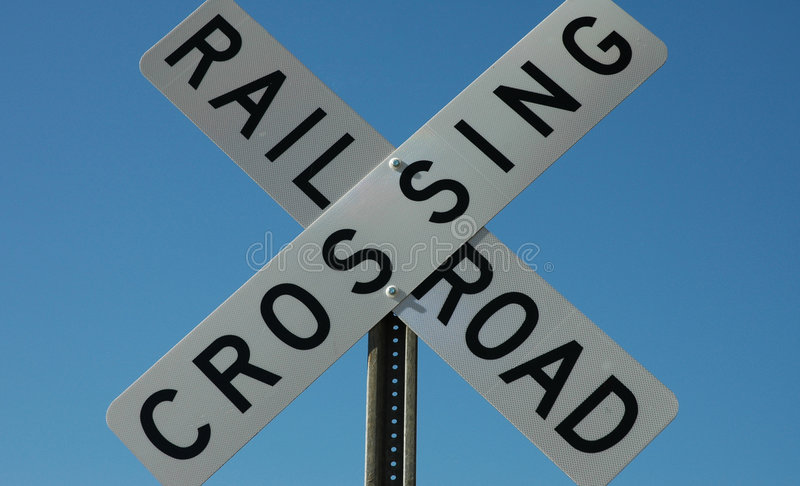 Download Railroad Crossing Sign stock image. Image of safe, cross - 38649