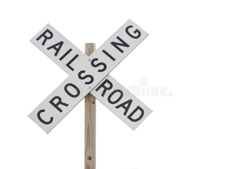 Railroad Crossing Sign stock photography