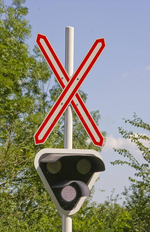 Download Railroad crossing signal stock photo. Image of rail, crossing - 26089856