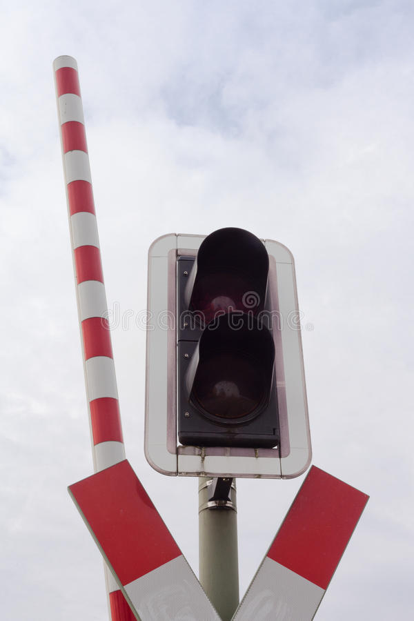 Download Railroad Crossing Signal Light And Open Bar Stock Image - Image: 18857757