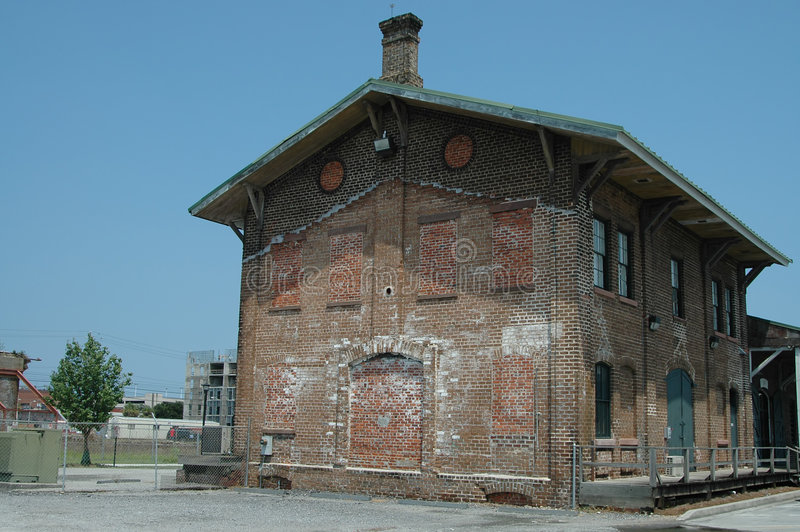 Railroad depot building
