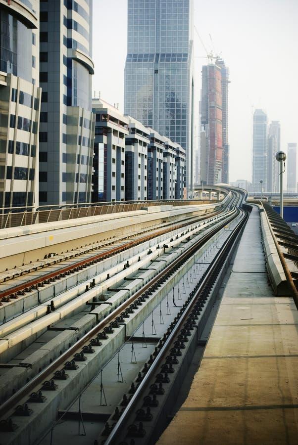 Railroad in Dubai royalty free stock image