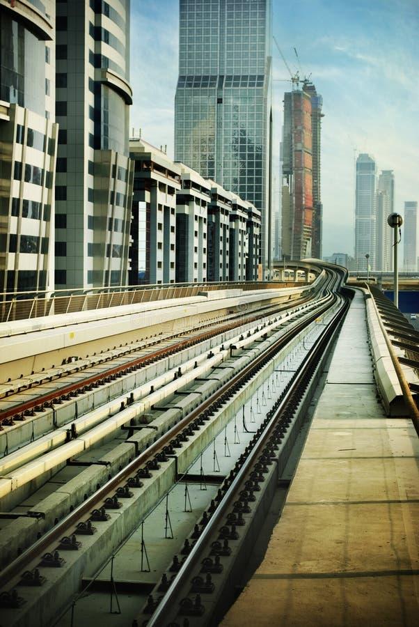 Railroad In Dubai Stock Image