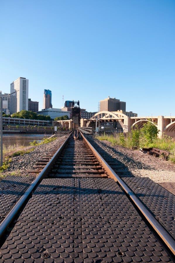 Railroad em Saint Paul do centro fotografia de stock