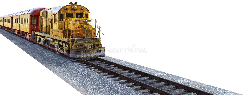 Railroad Freight Train, Locomotive, Isolated, Tracks royalty free stock photos