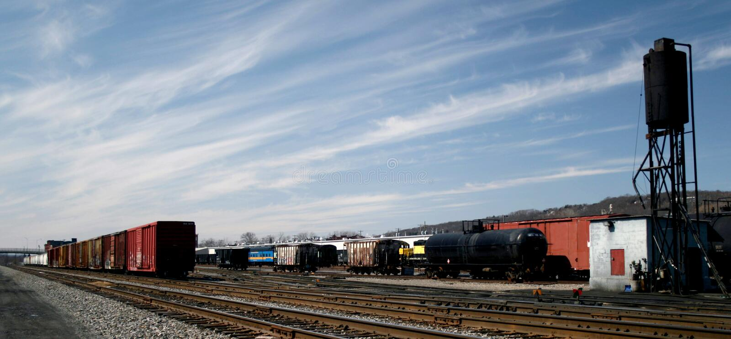 Railroad freight yard stock image