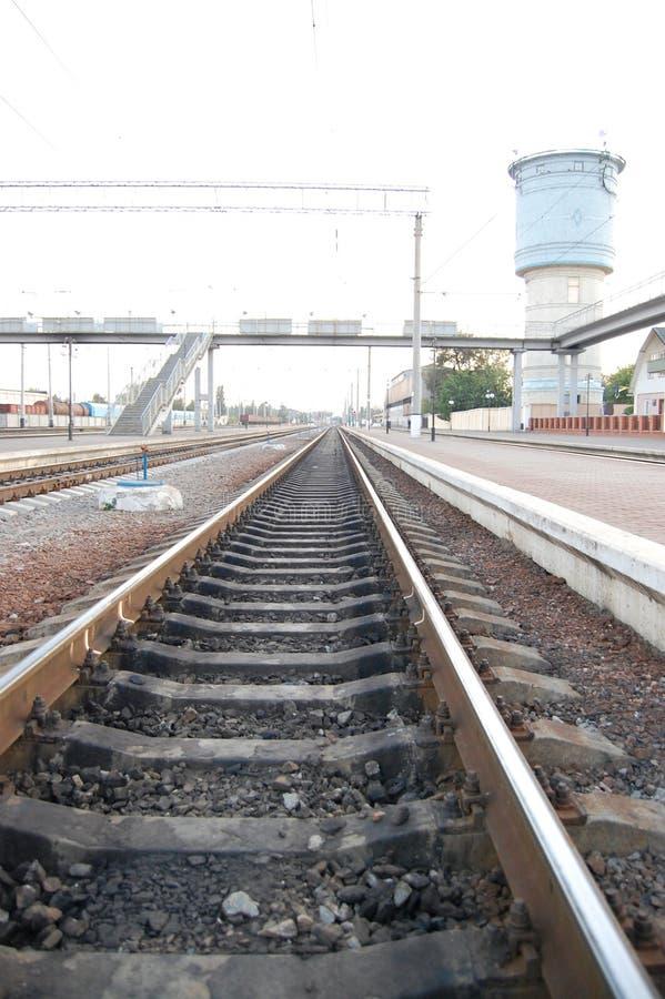railroad going stock photo
