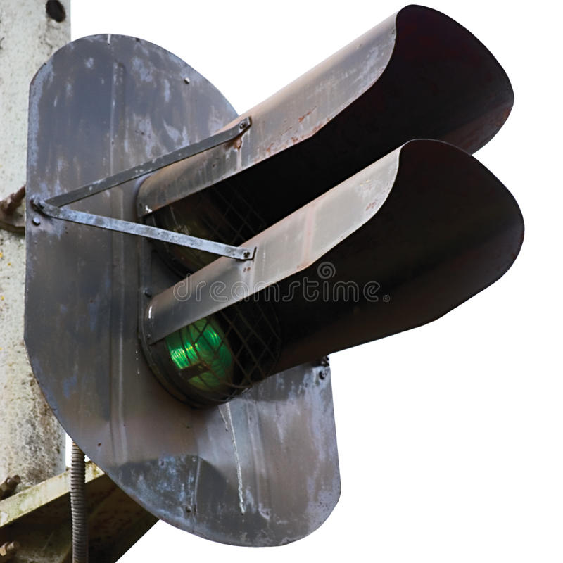 Free Railroad Green Light Signal Isolated Closeup Stock Photos - 15031693