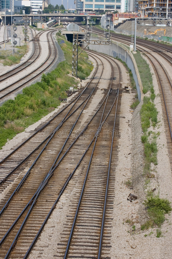 Railroad infrastructure royalty free stock photo