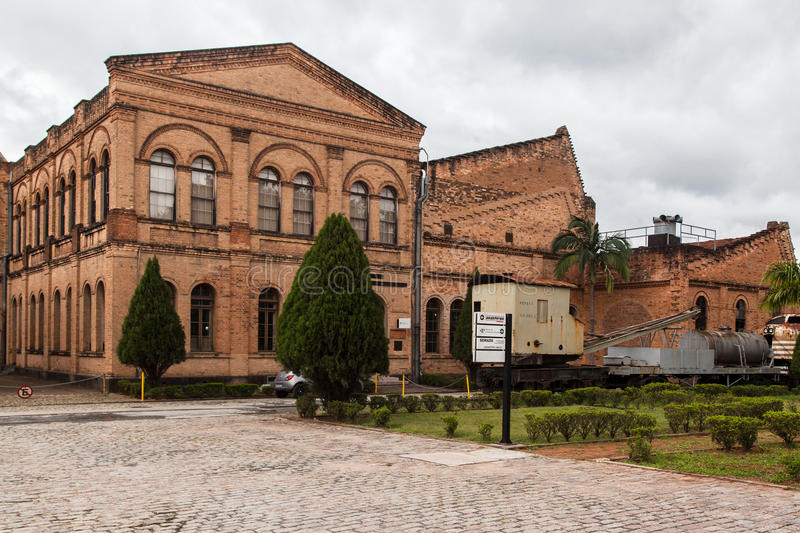 Railroad le musée Jundiai Sao Paulo image libre de droits