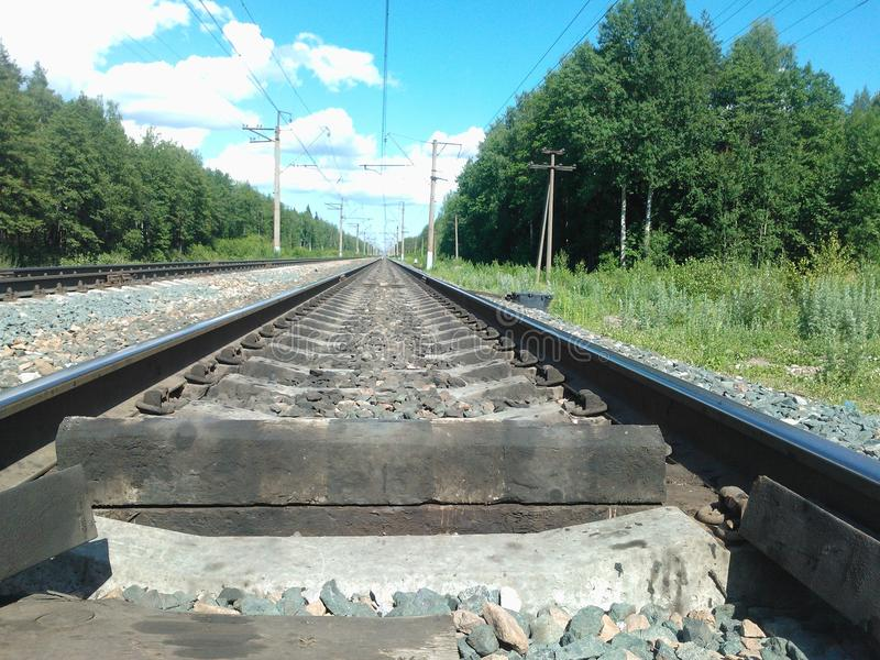 The railroad royalty free stock photos